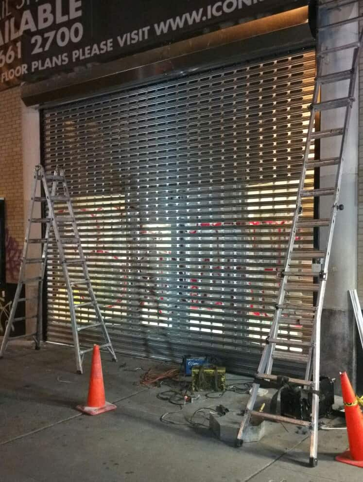 Storefront Roll Down Security Gates To Prevent Graffiti