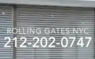 3 Roll Up Gates For A New KicksUSA Store In Manhattan