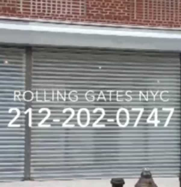 Perforated Gate,grille gate,overhead gate,